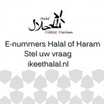 E-nummers Halal of Haram stel uw vraag