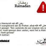Ramadan per ongeluk eten !