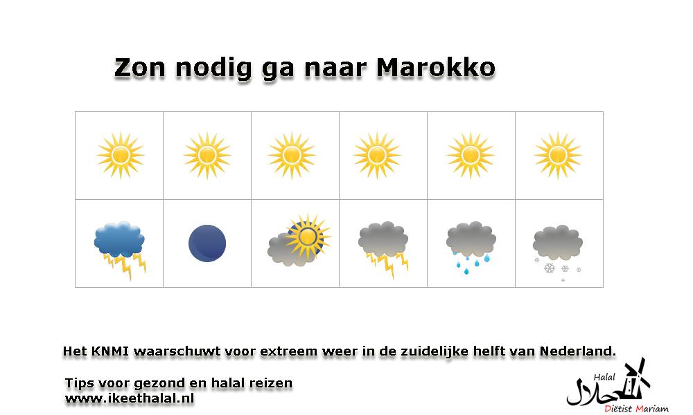 zon nodig ga naar Marokko