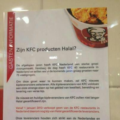 Kfc Helder En Transparant Wat Betreft Halalinfo
