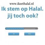 Ik stem  op halal