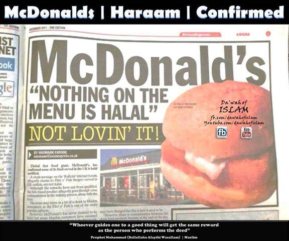 Mc Donald's visburgers haram