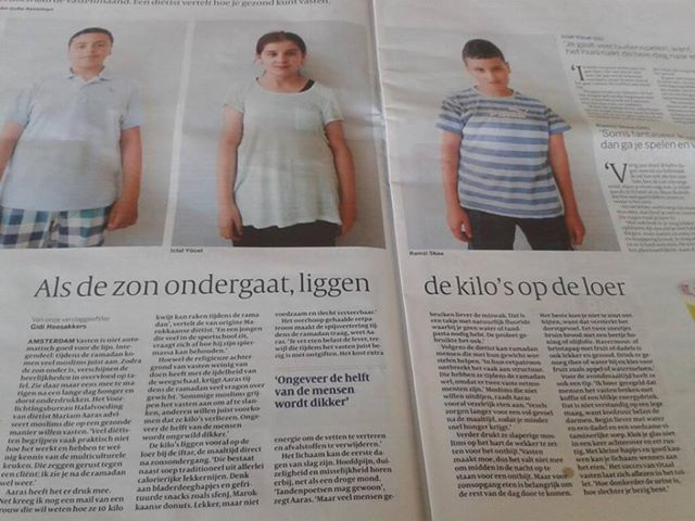 Ramadan tips in Volkskrant