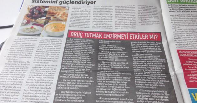 Gezond halal artikel voor de Haberkrant