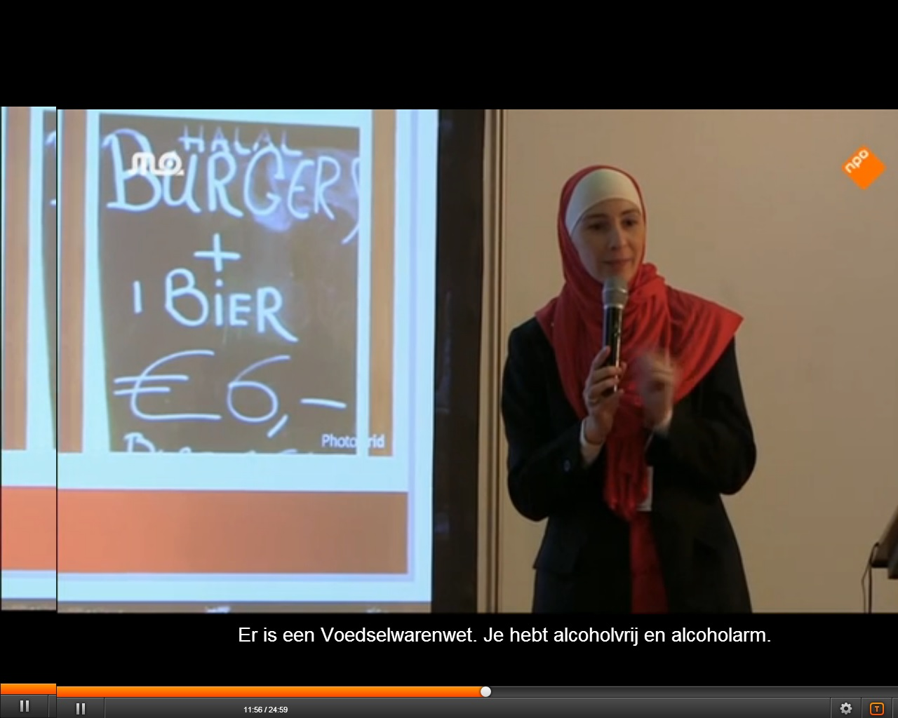 "Seminar ""Opportunities in the halalmarket"" Spreker Mariam Aaras"
